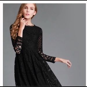 Hollow Lace High Quality Embroidery Dress